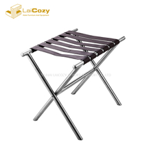 Good Quality Folding Stainless Steel Tray Stand luggage rack