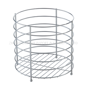Round Towel Basket Stainless Steel Towel Kep