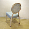 Hotel Good Quality Banquet Chair Durable Luxury Wooden Texture Morden Steel Chair for Restaurant