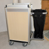 Durable hotel laundry cleaning maid cart