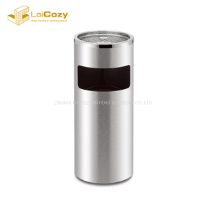 Hotel round indoor metal dustbins with lid