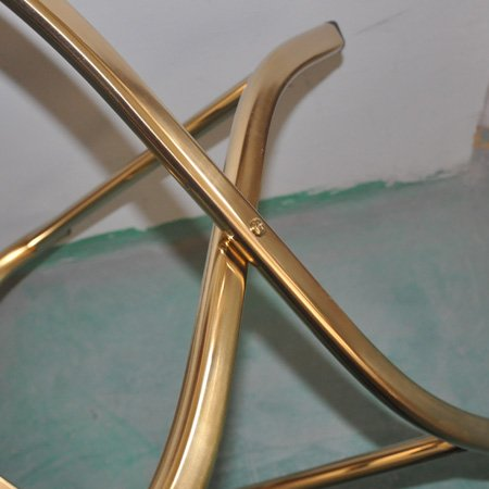 Hotel travel guestroom golden luggage rack stand