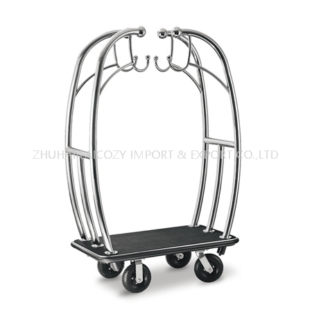 Deluxe special design hotel wheeled luggage bellman cart