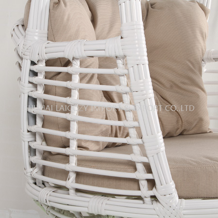Hanging Chair with Cushion (Iron+PE Rattan )