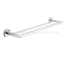 304 Stainless Steel Double Towel Rack for Hotel Bathroom