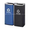 Stainless steel 60L double indoor dustbins