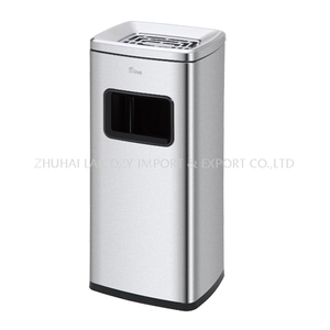 Stainless steel trash can 20L indoor dustbins barrel