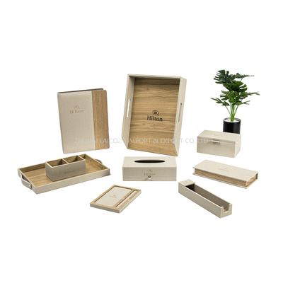 Hilton Hotel Guestroom Customized Bamboo Leather Set