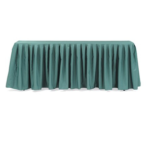 Hotel banquet polyester table skirting with table cloth