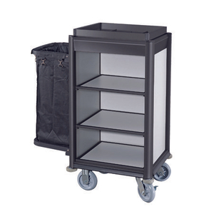 Hotel Compact Small Aluminium Housekeeping Maid Cart
