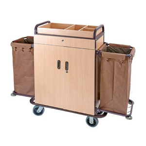 Wooden Hotel Housekeeping Cart Rectangular