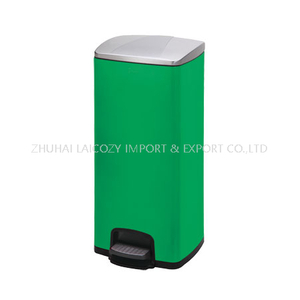 430 Stainless Steel Pedal Color Dustbin for Medical Waste Trash Bin 30L