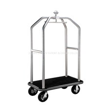304 Stainless Steel Hotel Concierge Birdcage Luggage Trolley