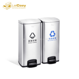 Kitchen fireproof staliness steel indoor pedal dustbins