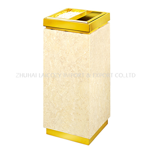 Hotel Lobby indoor dustbins Marble Bins