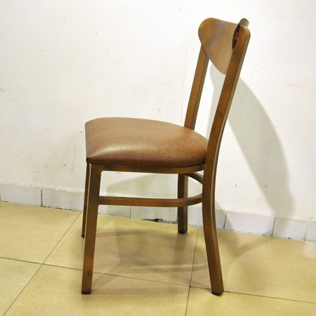 modern steel frame dinning chair for hotel restaurant