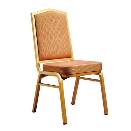 High Quality Hotel Banquet Modern Iron Chair Restaurant Dining Titanium Gold Stackable Steel Chair with Golden Painting