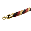 Gold-Red-Black Three Colors Mixed Poly Rope Titanium Gold Hook Used on Stanchion Post