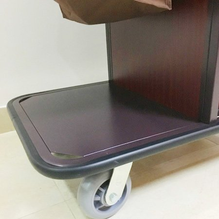 Hotel Steel Compact Housekeeping Leaning Maid Cart