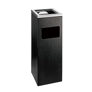 Hotel Lobby Metal Black Coating Dustbins Ashtray