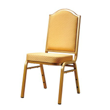 Stackable iorn chair for hotel banquet and restaurant