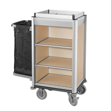 Hotel Auminum Compact Housekeeping Maid Cart