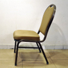 Restaurant aluminium stacking banquet chair with curved seat