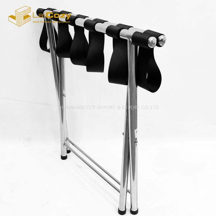 Custom Hotel Folding stainless steel Suitcase luggage rack