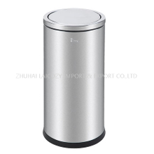 430 Stainless Steel Trash Can 80L Ground barrel with swing top