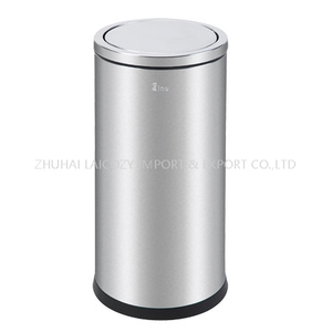 Stainless steel 80L indoor dustbin with lid swing top