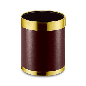 Hotel round indoor dustbins Gold Ring waste Bins