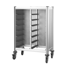 Wheeled serving GN pan transportation cart for restaurant