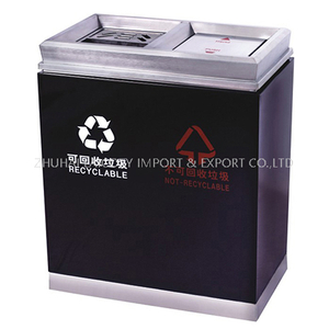 Hotel lobby indoor dustbin marble double bin