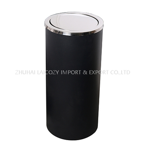 Hotel indoor dustbins with lid swing top cover