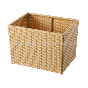 Towel Basket Aluminum Tube with PE Imitation Rattan Towel Kep