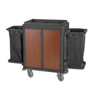 lockable hotel housekeeping linen cart