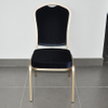 Stackable aluminum chair for hotel banquet