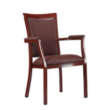 banquet aluminium dining chair with arm