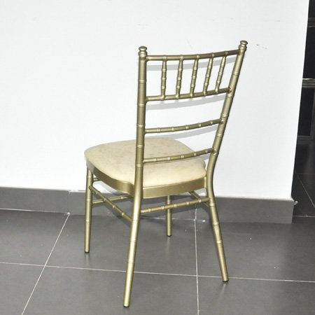 hotel banquet aluminum chair with oil painting in gold color