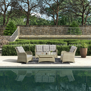 Outdoor Good Quality Aluminium PE Rattan Furniture with Cushion
