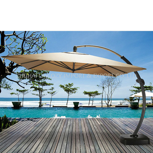 Outdoor Luxury Aluminium Big Bend Umbrella for Swimming Pool