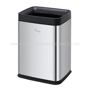 430 Stainless Steel Guest Room Dust Bin 8L Trash Can