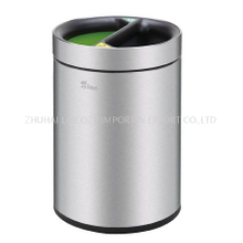 430 Stainless Steel Guest Room Dust Bin 10L Round Trash Can