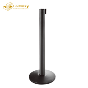 Black finish Aluminium crowd control hotel retractable barrier