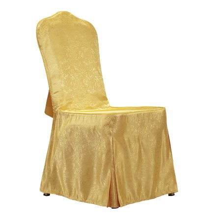 Luxury fabric hotel banquet chair cover with back tie