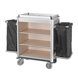 Good Quality Hotel Aluminum Housekeeping Maid Cart