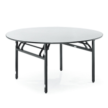 Durable Foldable plywood round banquet tables for restaurant