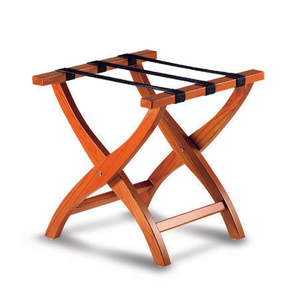 Modern beech wood foldable hotel luggage rack