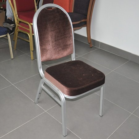 High quality stackable aluminium banquet chair for hotel
