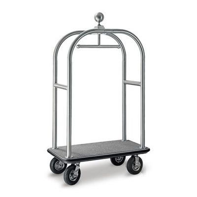 hotel foldable wheeled 304 stainless steel bellman cart